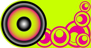 Party Background. Loudspeaker on Retro Light Green Background / Vector stock illustration