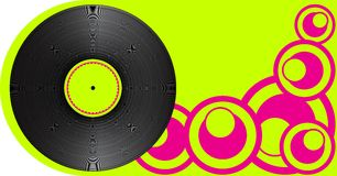 Party Background. Vinyl Record on Light Green Background / Vector vector illustration