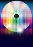 Party Background. Multicolor Graphic Equalizer and CD Compact Disc on Blue Background / Vector royalty free illustration