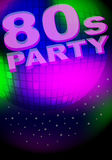 Party Background. Glowing Disco Ball and Sign - vector royalty free illustration