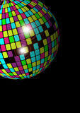 Party Background. Vector Abstract Background - Glowing Disco Ball on Black Background vector illustration