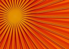 Party background. Orange abstract background; vanishing point; 3D effect Stock Photography