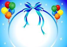 Party background. Blue background party balloons - vector illustration