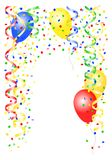 Party background. With balloons and confetti vector illustration