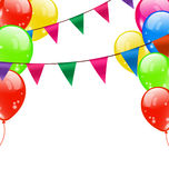 Party Background with Balloons Royalty Free Stock Image