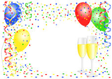 Party background with balloons Stock Images