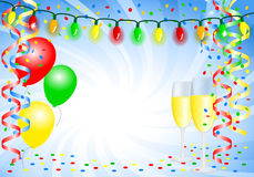 Party background with balloons Royalty Free Stock Photography
