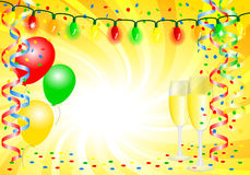 Party background with balloons Royalty Free Stock Photos