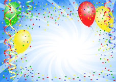 Party background with balloons Royalty Free Stock Photo
