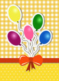 Party background with balloons Royalty Free Stock Images
