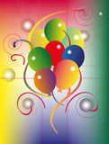 Party Background With Balloons. Vector illustration of party background with colorful balloons design Royalty Free Stock Photography