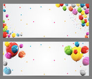 Party Background Baner and Balloons Vector Illustration Royalty Free Stock Image