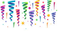 Party background. Party celebration colorful background on white Royalty Free Stock Photography