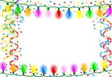 Party background with chain of lights Royalty Free Stock Photo
