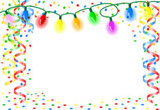 Party background with chain of lights Royalty Free Stock Photography
