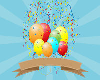 Party Background with Colorful Balloon Royalty Free Stock Images