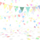 Party Background With a Colorful Confetti and. Flags. Vector Ilustration Stock Photos