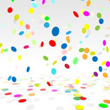 Party Background With a Colorful Confetti. Stock. Party Background With a Colorful Confetti. Vector Ilustration Stock Photo
