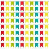 Party Background with colorful Flags Vector Illustration. EPS 10 stock illustration