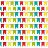 Party Background with colorful Flags Vector Illustration. EPS 10. bunting pattern vector illustration