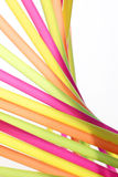 Party background with colorful straws Stock Images