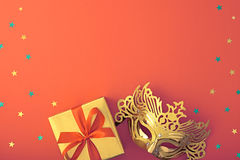 Party background decoration. Masquerade Mask Stock Images