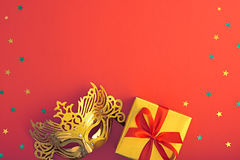 Party background decoration. Masquerade Mask Stock Photos
