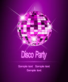 Party background, disco ball. Purple Party background, disco ball Vector Illustration