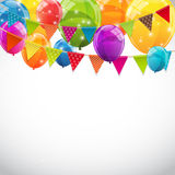 Party Background with Flags and Balloons Vector Illustration Royalty Free Stock Photos