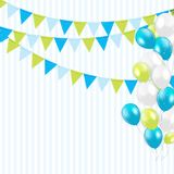 Party Background with Flags and Balloons Vector Illustration Royalty Free Stock Images