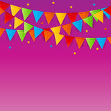Party Background with Flags Vector Illustration Stock Images