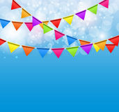 Party Background with Flags Vector Illustration Royalty Free Stock Photos