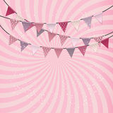 Party Background with Flags Vector Illustration Stock Photo