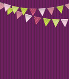 Party Background with Flags Vector Illustration Stock Image