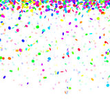 Party background. Flying confetti on white background stock illustration