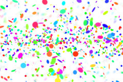 Party background. Flying confetti on white background vector illustration