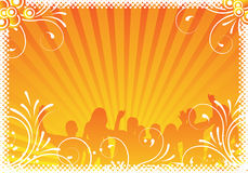Party background frame stock illustration
