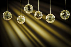 Party background with golden light Royalty Free Stock Image