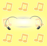 Party background with music notes Stock Photo