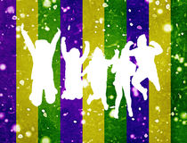Party Background People Jumping Silhouette vector illustration