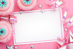 Party background. Pink party background with space for copy Royalty Free Stock Image