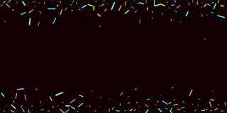 Party background Sprinkles grainy. Sweet confetti royalty free illustration