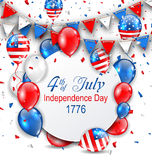Party Background with Traditional American Colors with Greeting Card Stock Image