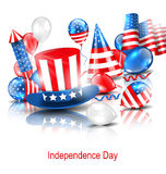 Party Background in Traditional American Colors Stock Image