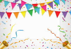 Party background with white board Stock Photo