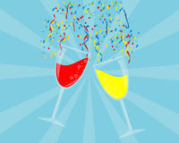 Party Background with Wine Glass Royalty Free Stock Photography