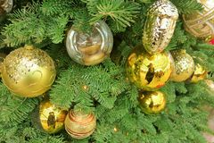 Party ball. Decoration golden ball Stock Photography