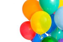 Party-Ballone auf Weiß lizenzfreie stockfotografie