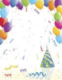 Party-Ballone und Hut Stockfotografie