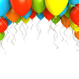 Party ballons on white background Royalty Free Stock Images